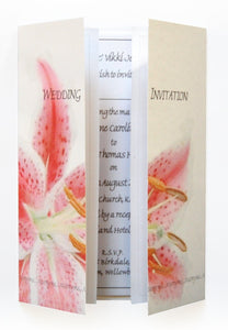 Pink Stargazer Lily Wedding Invitations