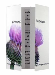 Scottish Thistle Wedding Invitations