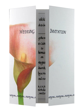Single Mango Calla Lily Wedding Invitations