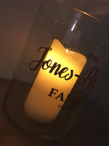 Personalised Vase with Candle