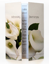 White Calla Lily Bouquet Wedding Invitations