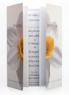 White Daffodil Wedding Invitations