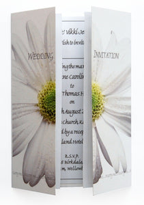 White Daisy Wedding Invitations