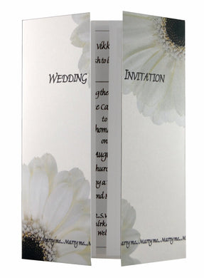 White Gerbera Wedding Invitations