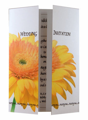 Yellow Gerbera Wedding Invitations