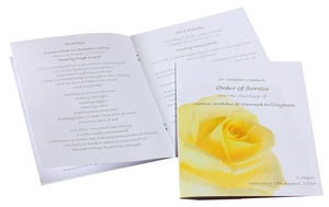 Yellow Rose Wedding Invitations