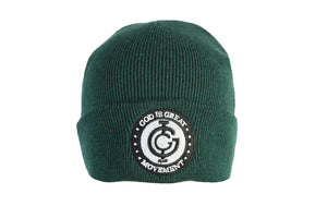 God is Great Boxed Beanie in Green