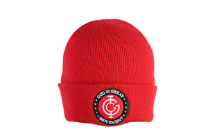 God is Great Boxed Beanie in Red
