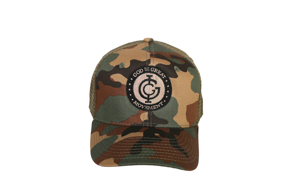 God is Great Camouflage Trucker Cap