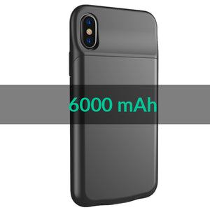 Apple iPhone X Smart Power Charger/ Battery Cover Case (6000 mAh)