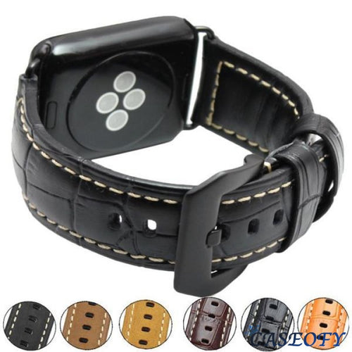 3 Color Genuine Leather Wrist/watch Band (42Mm 38Mm) For Apple Watch 1 2 And Bands