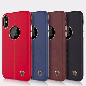 Apple iPhone X Luxury PU Vintage Case