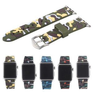 Camo Silicone Wrist/Watch Band for Apple Watch Series 4,3,2,1 (44mm,42mm,40mm,38mm)