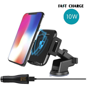 Car Mount Dashboard/ Mirror/ Air Vent Wireless Charger For iPhone (X,8,8Plus)