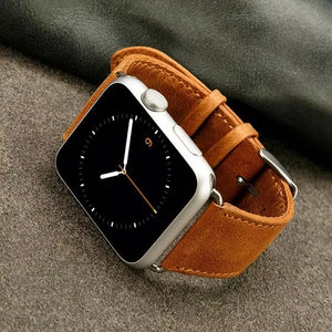 Genuine Leather Wrist/Watch Band for Apple Watch Series 4,3,2,1 (44mm,42mm,40mm,38mm)