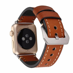 Leather Strap Wrist/Watch Band for Apple Watch Series 4,3,2,1 (44mm,42mm,40mm,38mm)
