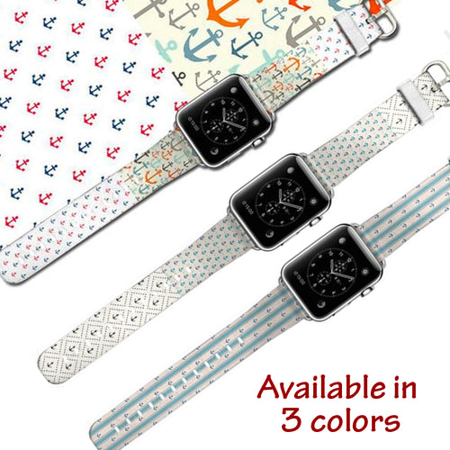 Vibrant Leather Wrist/Watch Band for Apple Watch Series 4,3,2,1 (44mm,42mm,40mm,38mm)