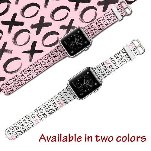 XOXO Women Genuine Leather Wrist/Watch Band for Apple Watch Series 4,3,2,1 (44mm,42mm,40mm,38mm)