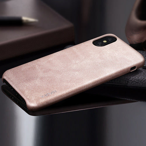 High Quality Vintage Luxury PU Phone Cases For Apple IPhone X