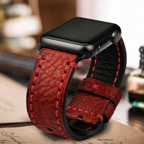Genuine Quality Rugged Wrist/Watch Band for Apple Watch Series 4,3,2,1 (44mm,42mm,40mm,38mm)
