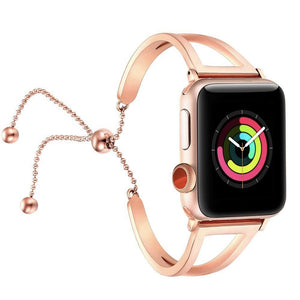 Women Classy Stainless Steel Apple Watch  Bracelet for Apple Watch Series 4,3,2,1 (44mm,42mm,40mm,38mm)