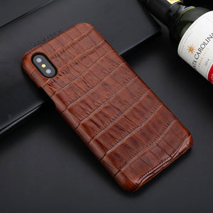 Genuine Leather Protective Case For Apple iPhone X