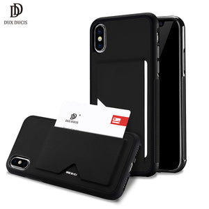iPhone X Shockproof Wallet Credit Card Slot Back Cover Case