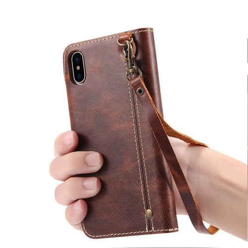 PU Leather Luxury Phone Back Cover With Card Pocket Wallet Case Phone Case For iPhone X