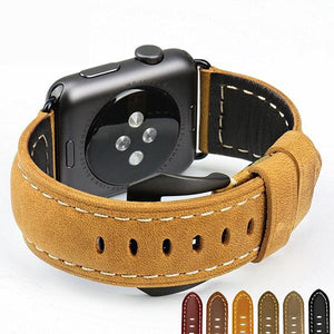 Vintage Leather Wrist/Watch Band for Apple Watch Series 4,3,2,1 (44mm,42mm,40mm,38mm)