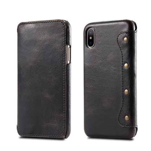 Luxury Wallet Leather Case For iPhone X Case Cover With Card Pocket
