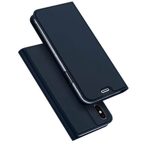 Leather Flip Cover Case For iPhone X Full Protection Cover