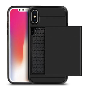 iPhone X Slide Card Pocket Case