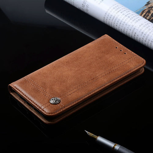 iPhone X Luxury Leather Flip Stand Card Slot Cover