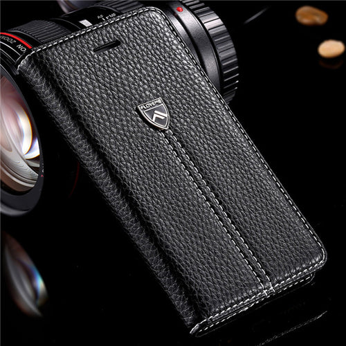 Leather Full Protective Flip Case For iPhone X
