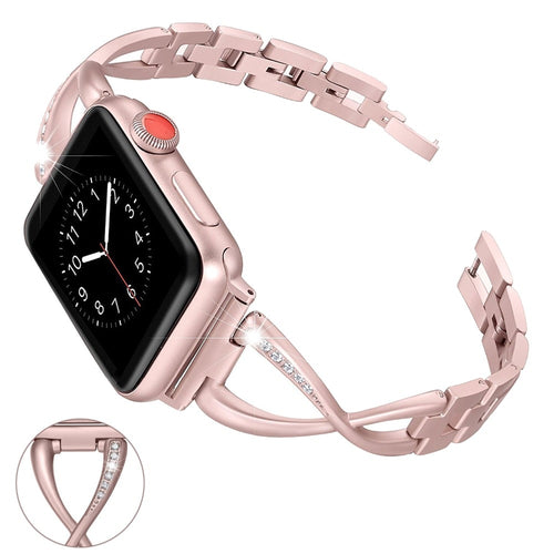 Rhinestone Diamond Women Stainless Steel Band for Apple Watch Series 4,3,2,1 (44mm,42mm,40mm,38mm)