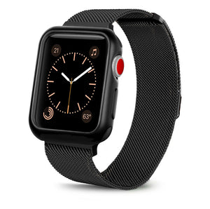 Stainless Steel Loop Metal Case+Strap for Apple Watch Band 44mm/42mm 40mm/38mm Series 3/2/1