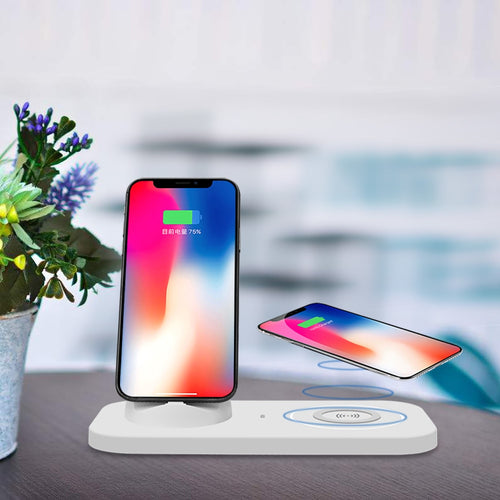Qi Wireless Charger Phone Holder Charger For iPhone X/8/7/6 Samsung Note 8/S9/S8
