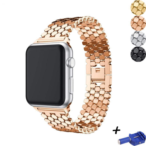 Executive Link Bracelet Strap for Apple Watch Band 44mm/42mm/38mm/40mm Series 4/3/2/1