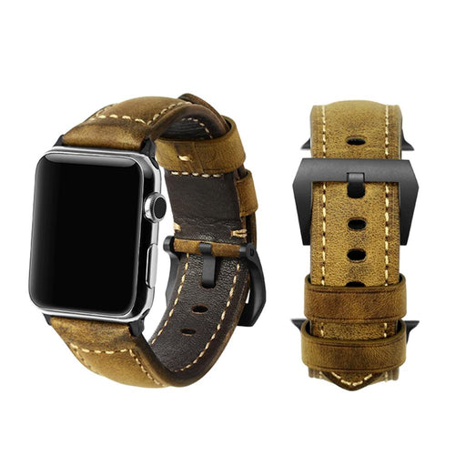 High Quality Vintage Brown Wrist/Watch Band for Apple Watch Series 4,3,2,1 (44mm,42mm,40mm,38mm)