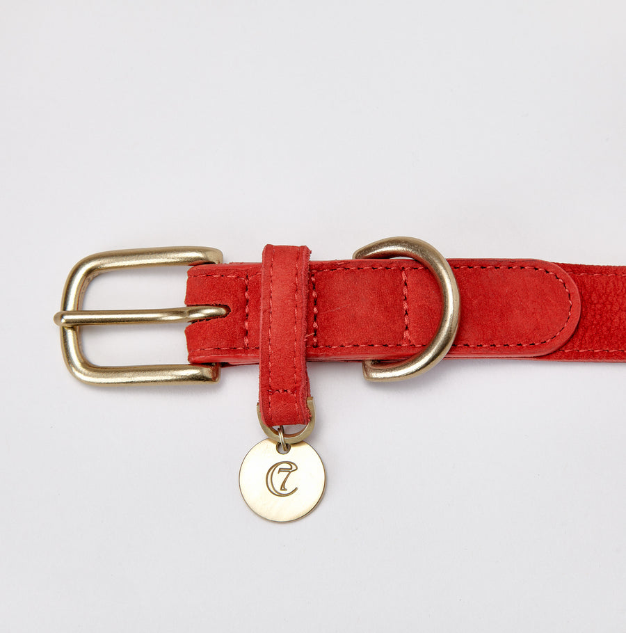 COLLAR | Luxury Leather in Cherry Red | CLOUD 7