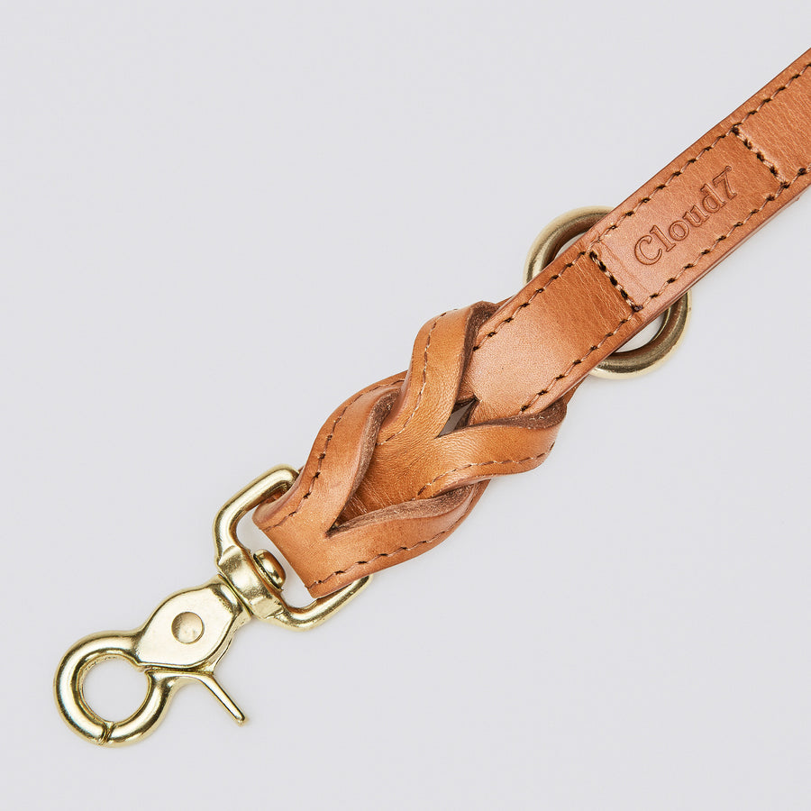 LEAD | Luxury Braided Leather in Cognac