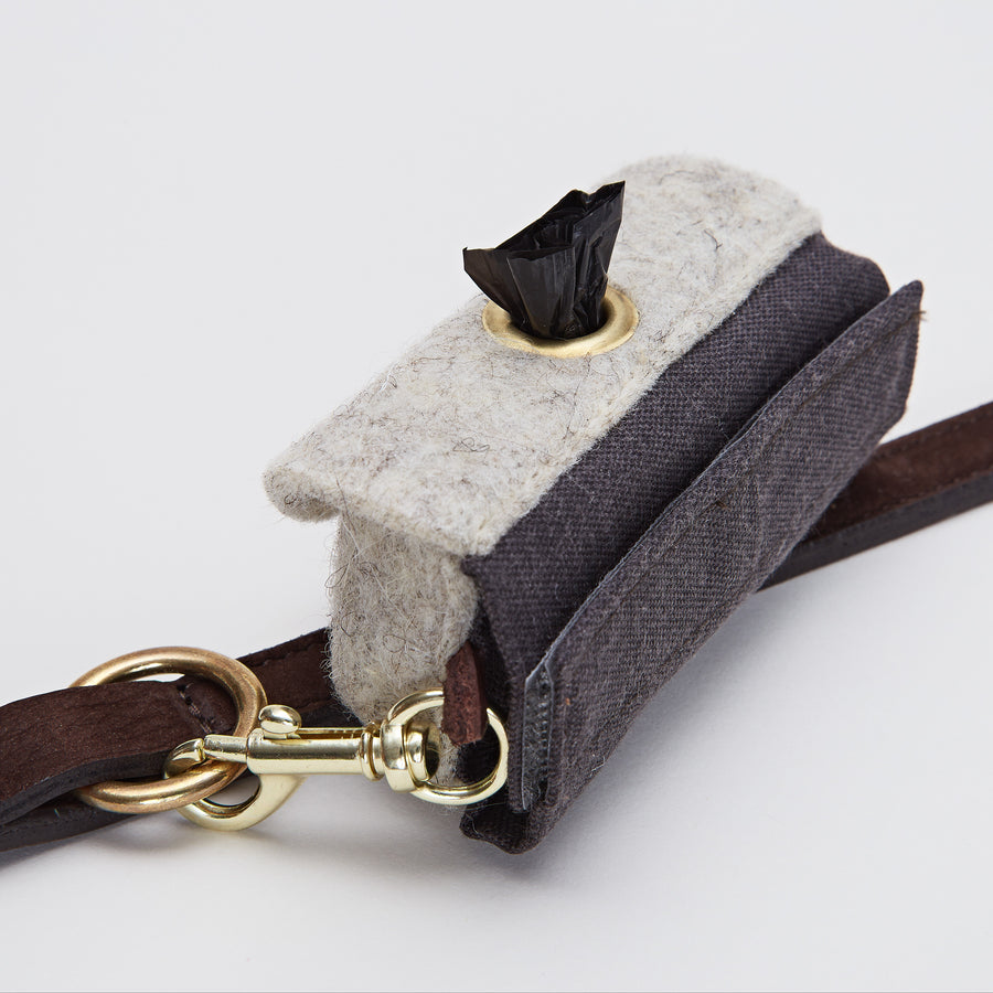 POO BAG HOLDER | Felt and Gold Snaps