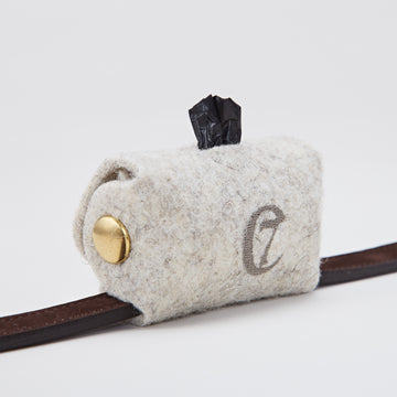 POO BAG HOLDER | Felt and Silver Snaps