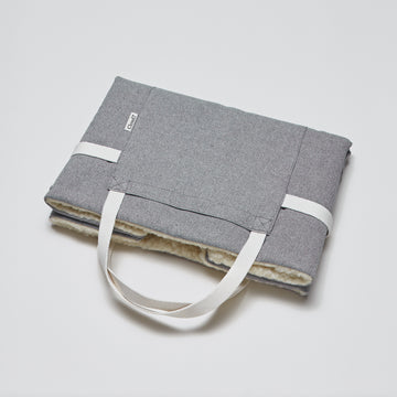 FOLDABLE TRAVEL BED | Tweed Grey | CLOUD7