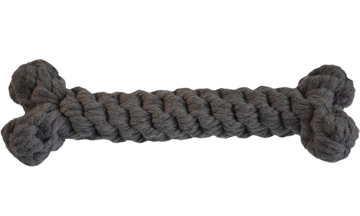 ROPE TOY | Bone in Grey | 15 cm | PEPPER'S CHOICE