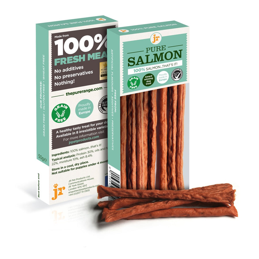 SALMON STICKS | Hypoallergenic | 50g | JR PET PRODUCTS