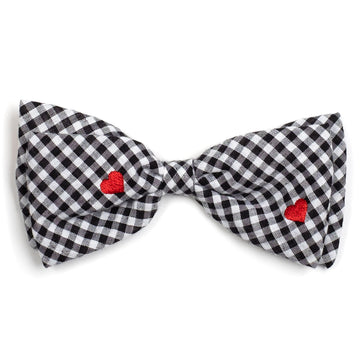 BOW TIE | Unisex |  Black/White Gingham Hearts