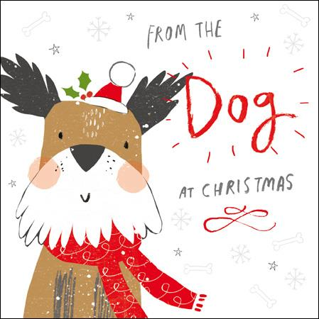 CHRISTMAS GREETING CARD | From The Dog At Christmas