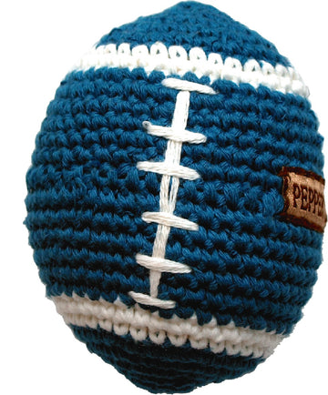 CROCHET TOY | Rugby Ball with Squeaker | PEPPER'S CHOICE