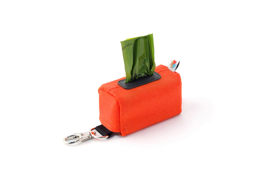 POO BAG HOLDER | Funston Dog Baggie Orange